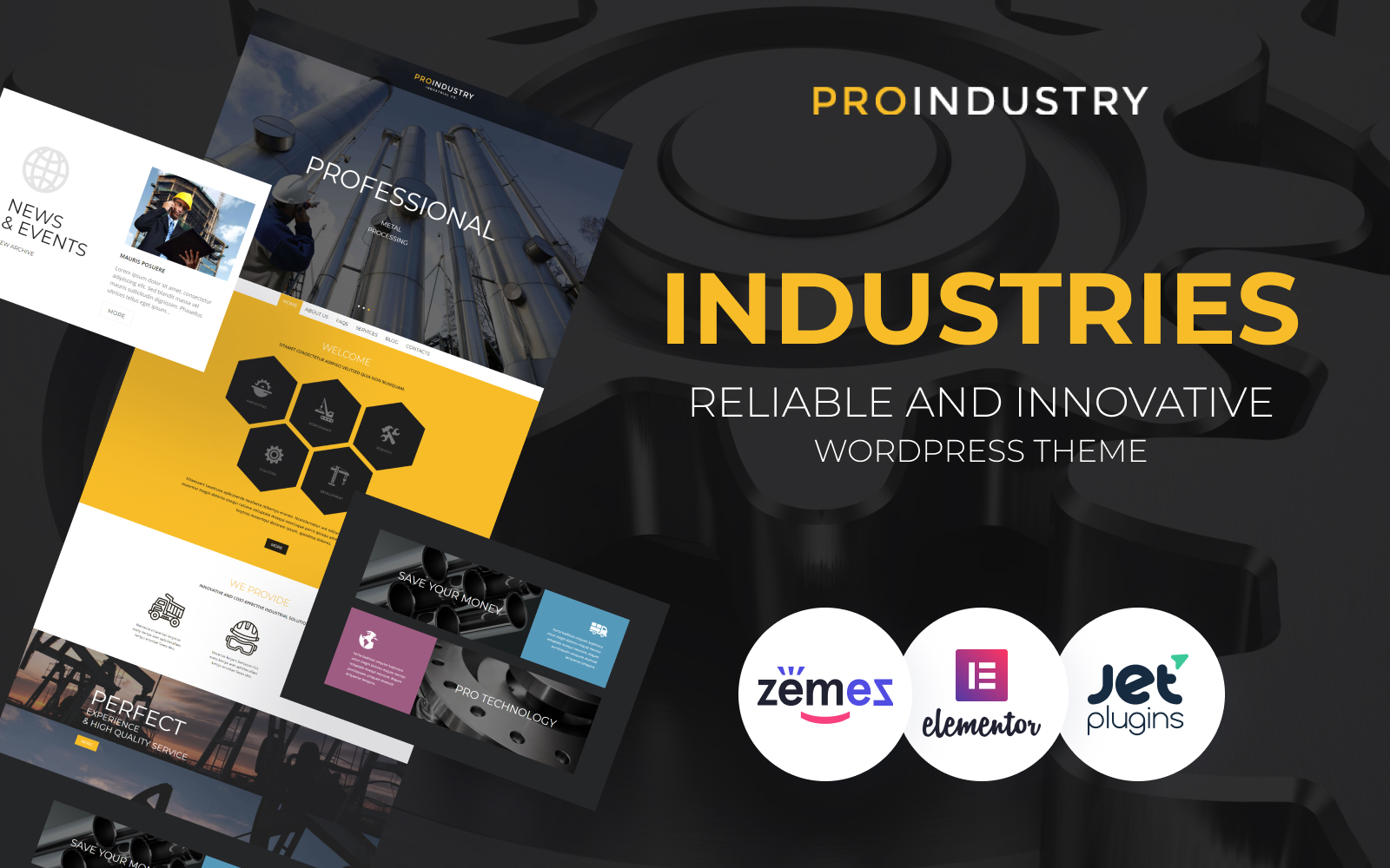 ProIndustry Tema WordPress №54938
