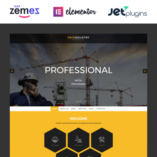 ProIndustry - WordPress Template based on Bootstrap