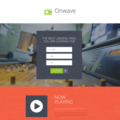 Onwave - Responsive Landing Page Template