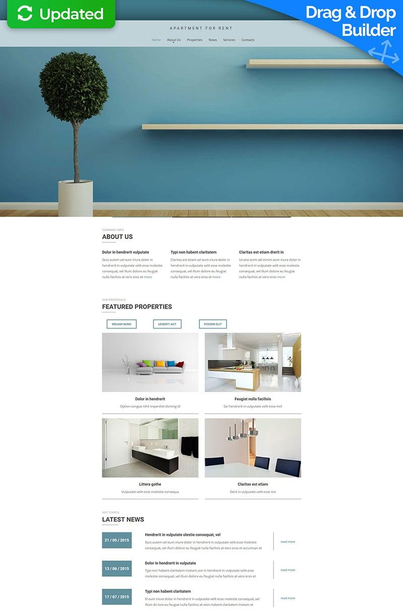 Real Estate Agency Responsive Moto CMS 3 Template - screenshot