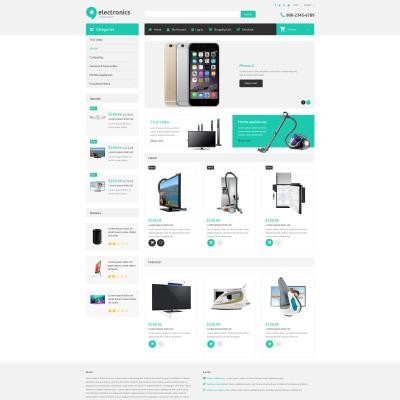 Responsive ZenCart Vorlage für  Elektronikgeschäft