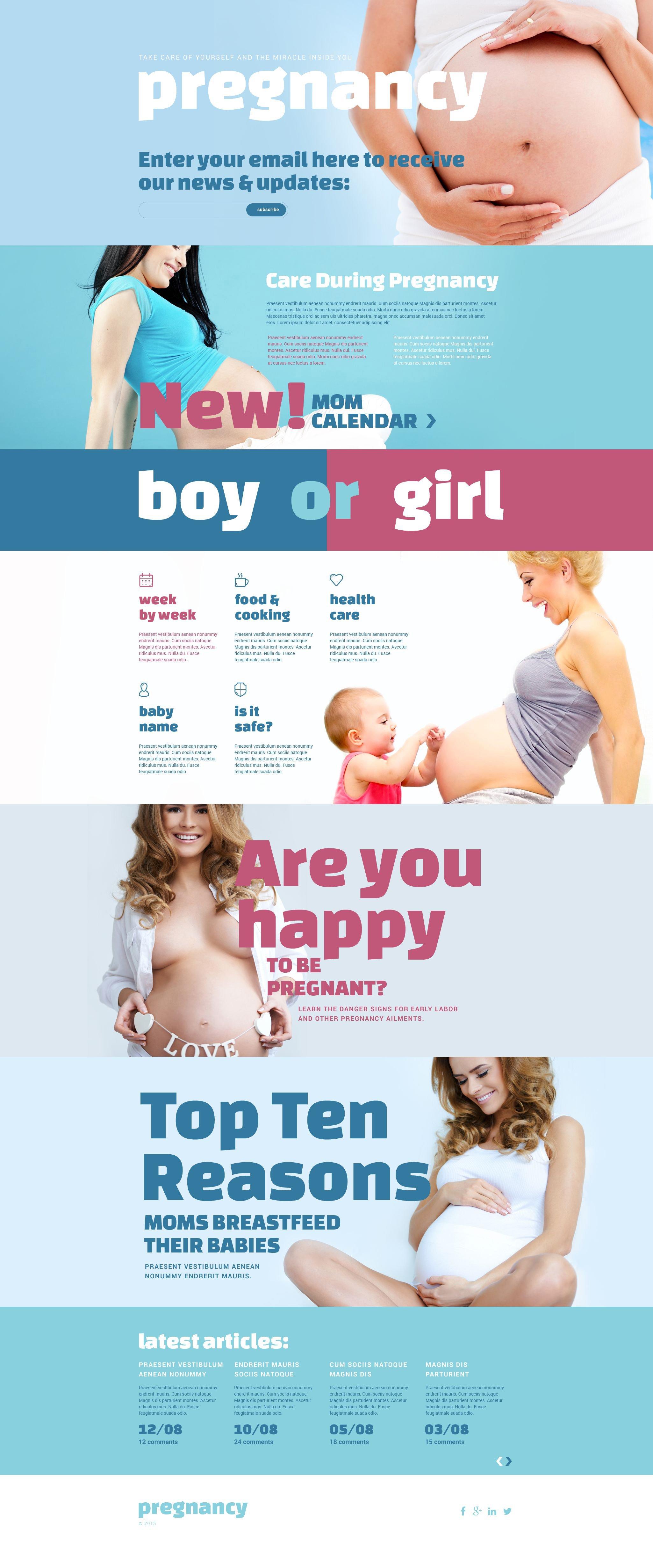 Responsives Landing Page Template für Schwangerschaft #54987