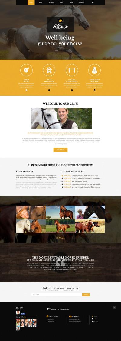 Responsywny szablon Joomla #54953 na temat: konie