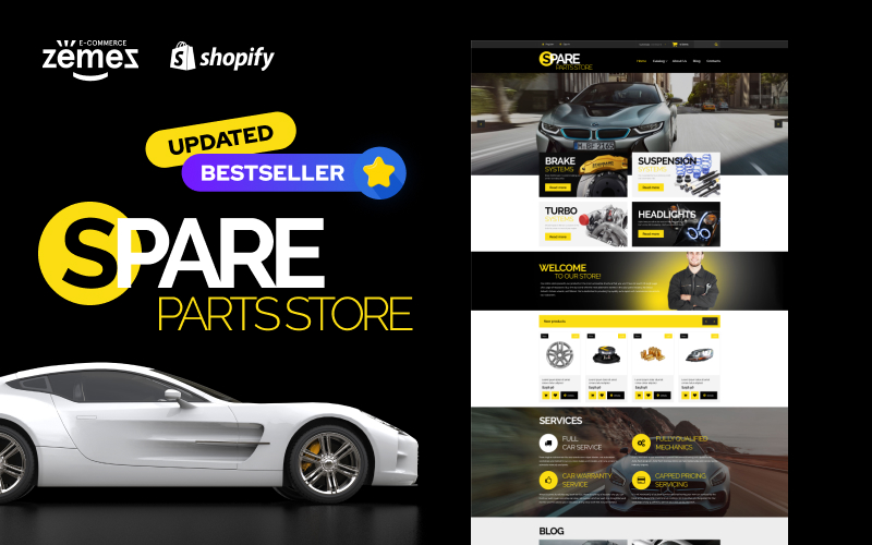 "Shopify Theme namens ""Auto Parts"" #54971"