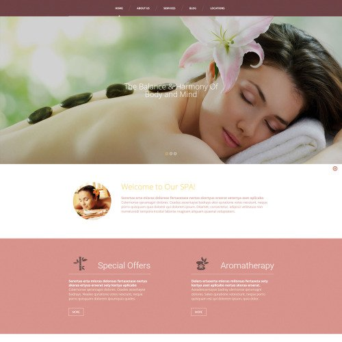 Spa Accessories - MotoCMS 3 Template based on Bootstrap