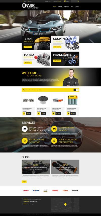 Auto Parts Responsive PrestaShop шаблон