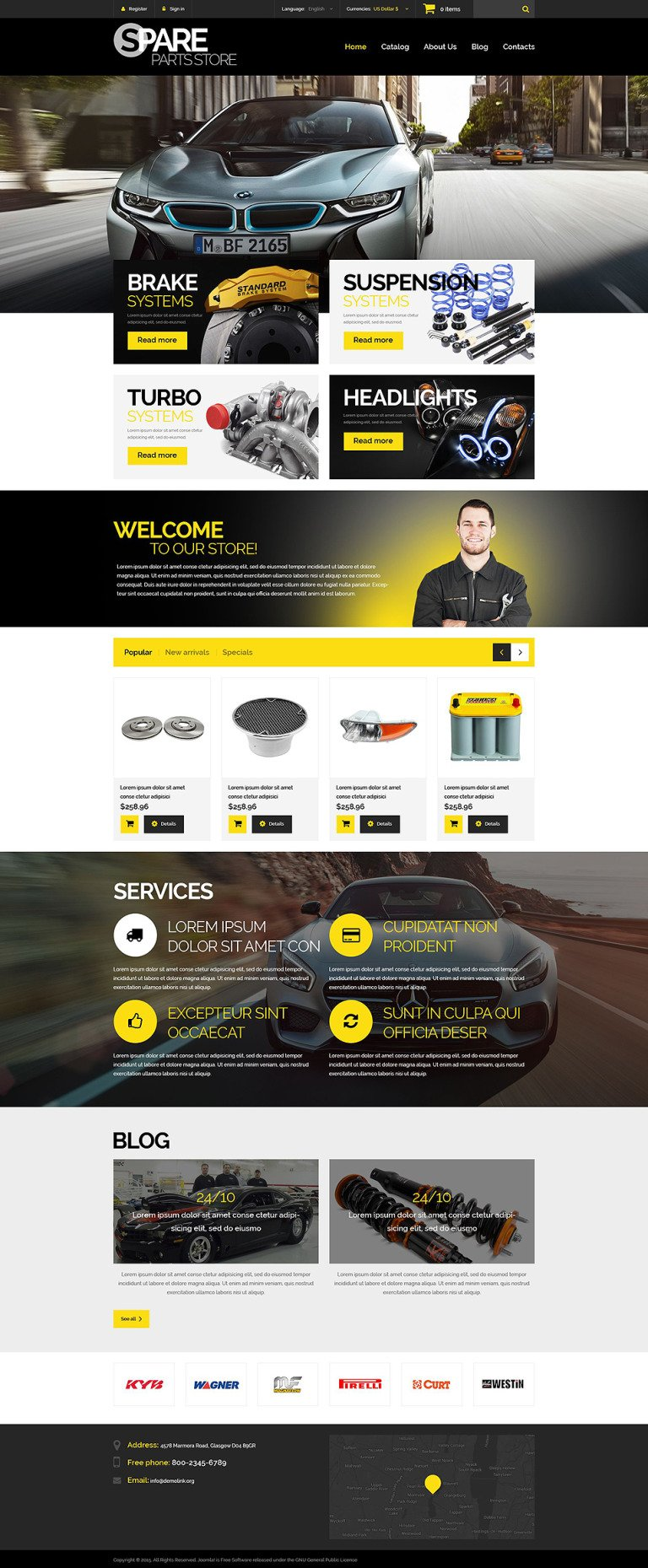 Spare Parts Store PrestaShop Theme New Screenshots BIG