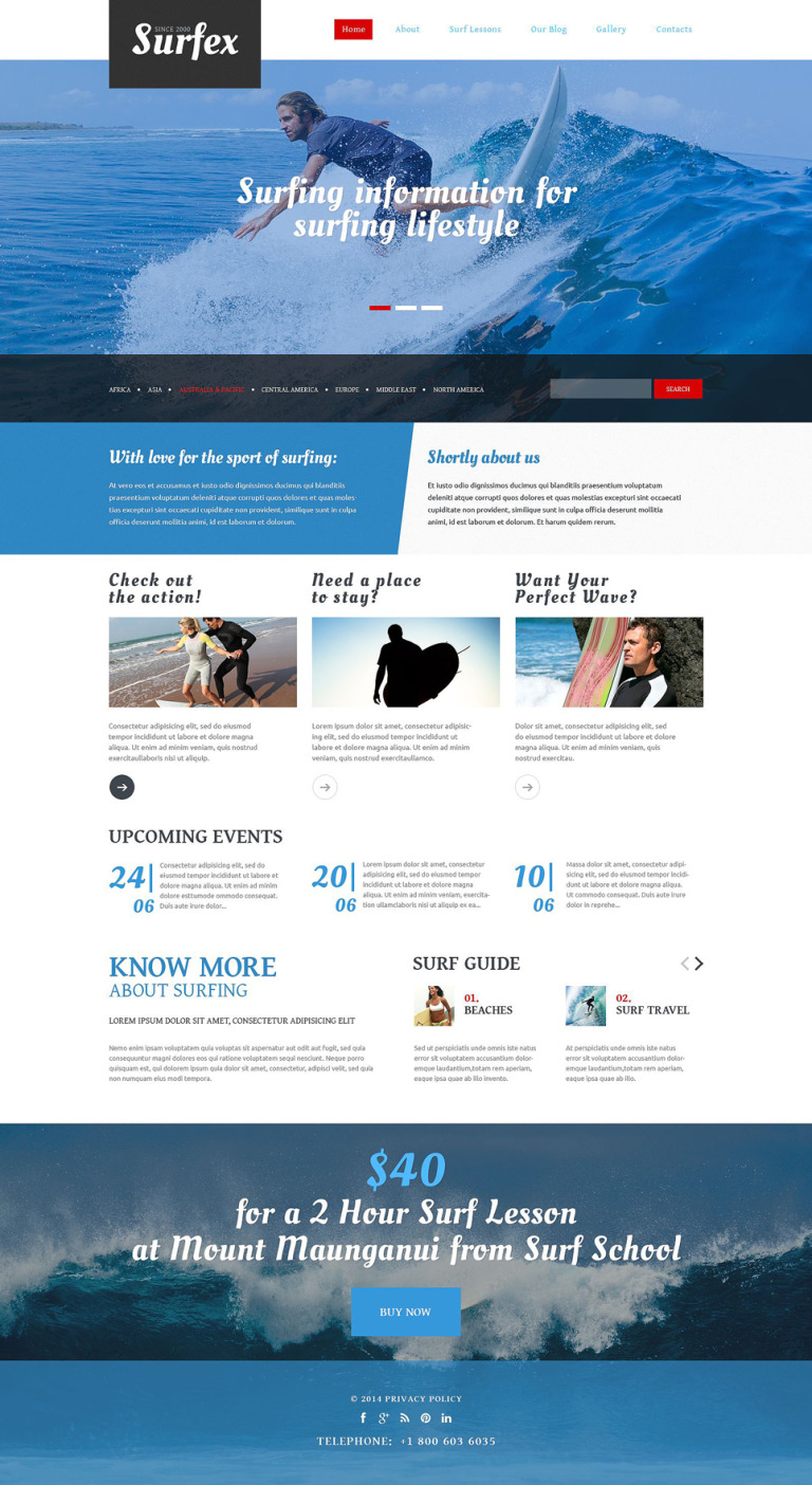 Surfing Responsive Drupal Template New Screenshots BIG