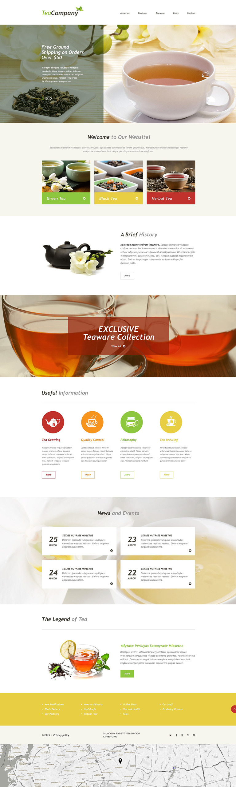 Tea Shop Muse Template New Screenshots BIG