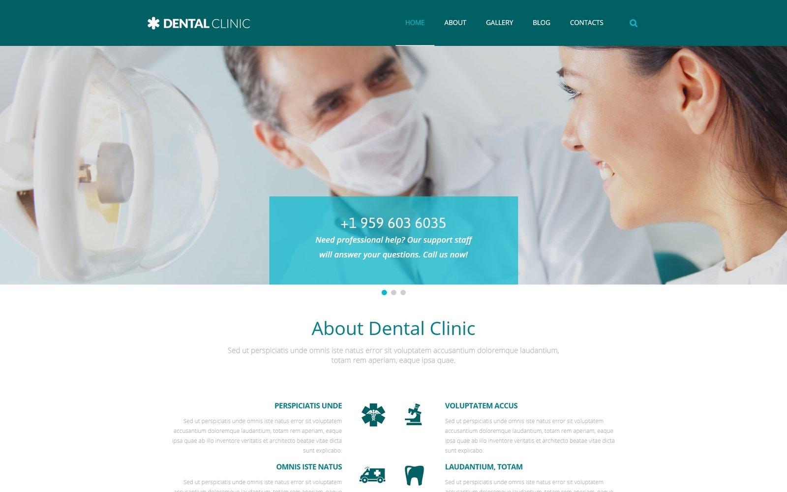 "Tema De WordPress ""Clínica Dental"" #54990 - captura de pantalla"