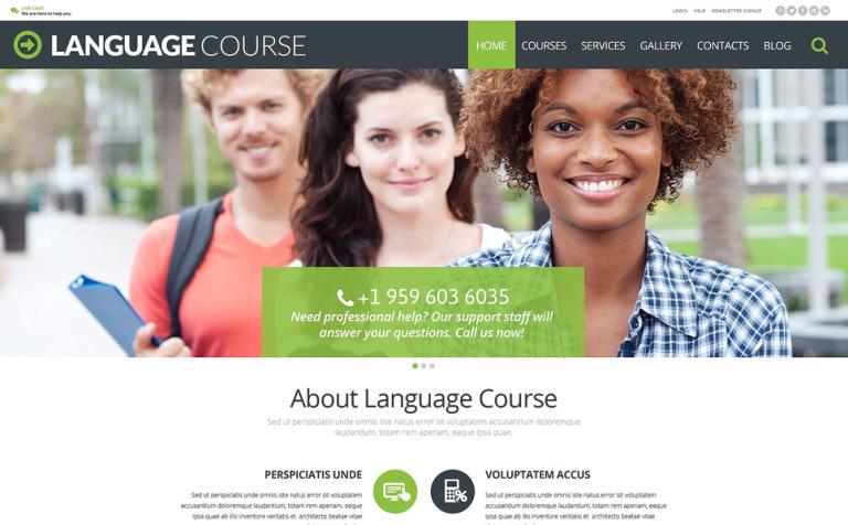 Tema de WordPress #54991 para Sitio de Escuelas de idiomas
