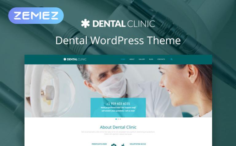 Tema de WordPress #54990 para Sitio de Odontología