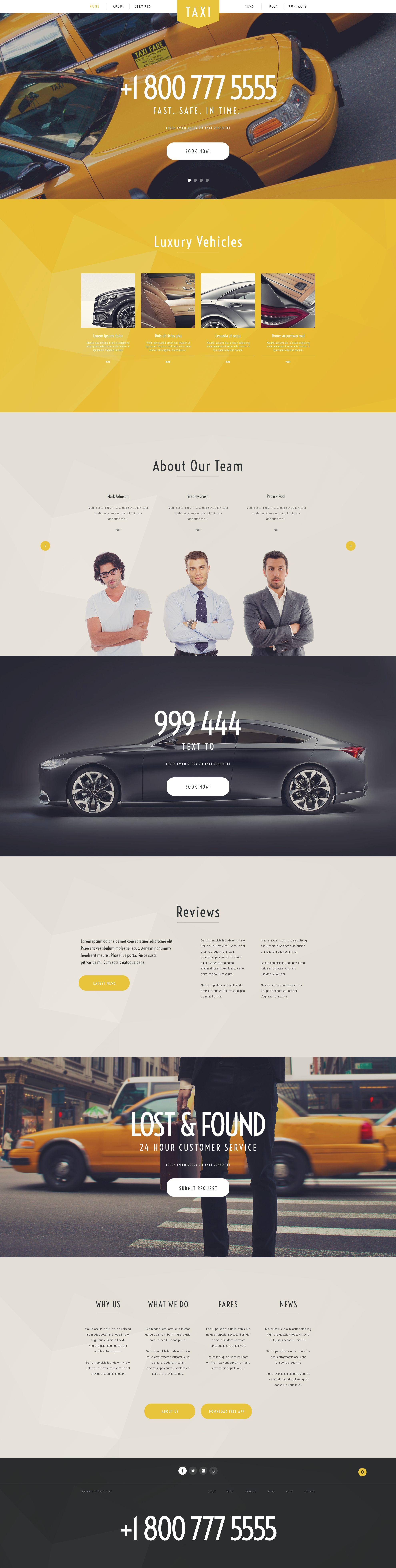 "Tema De WordPress ""Taxi Services"" #54992"