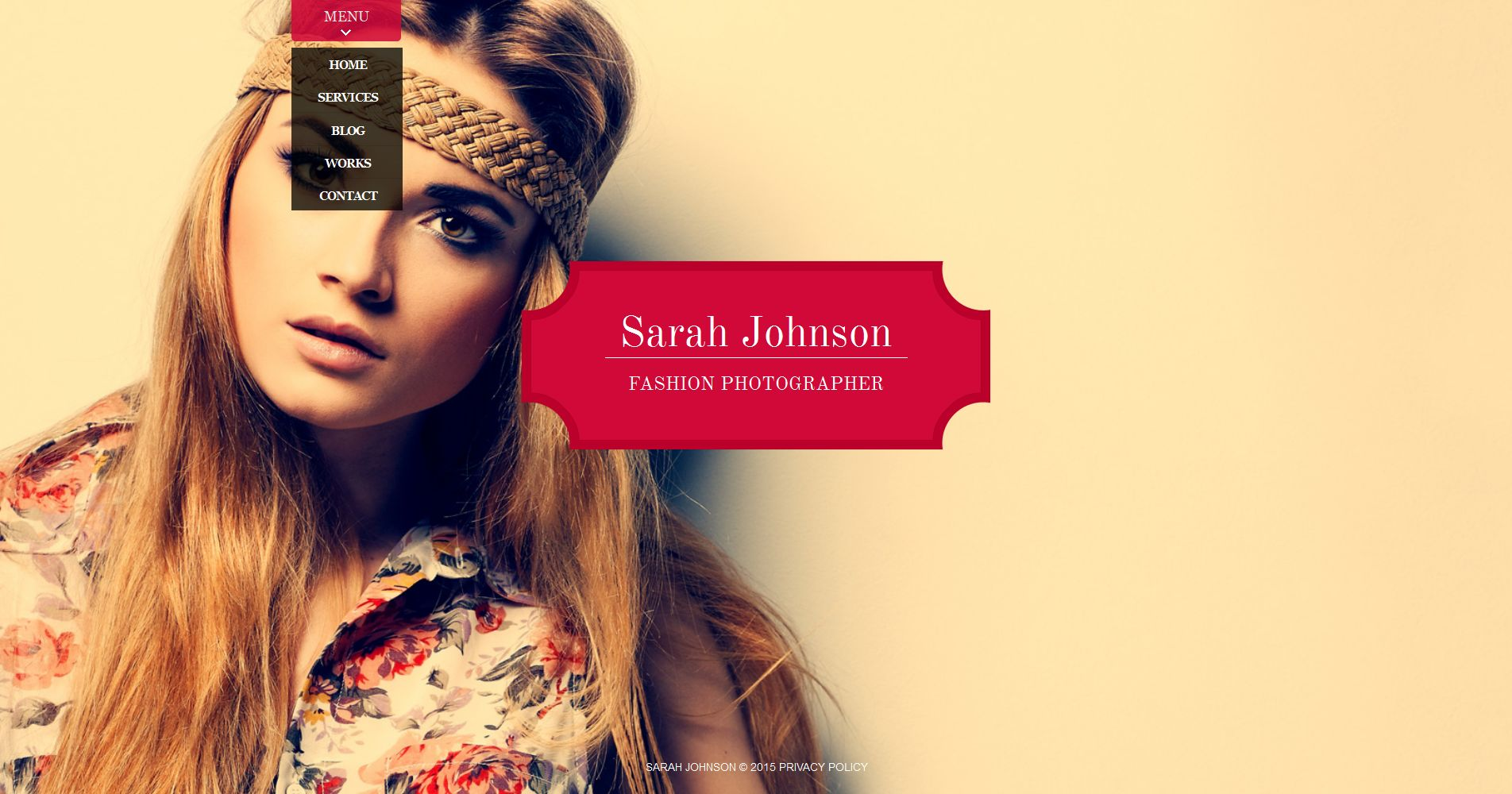Template de Galeria de Fotos para Sites de Portfólio de Fotografo №54921