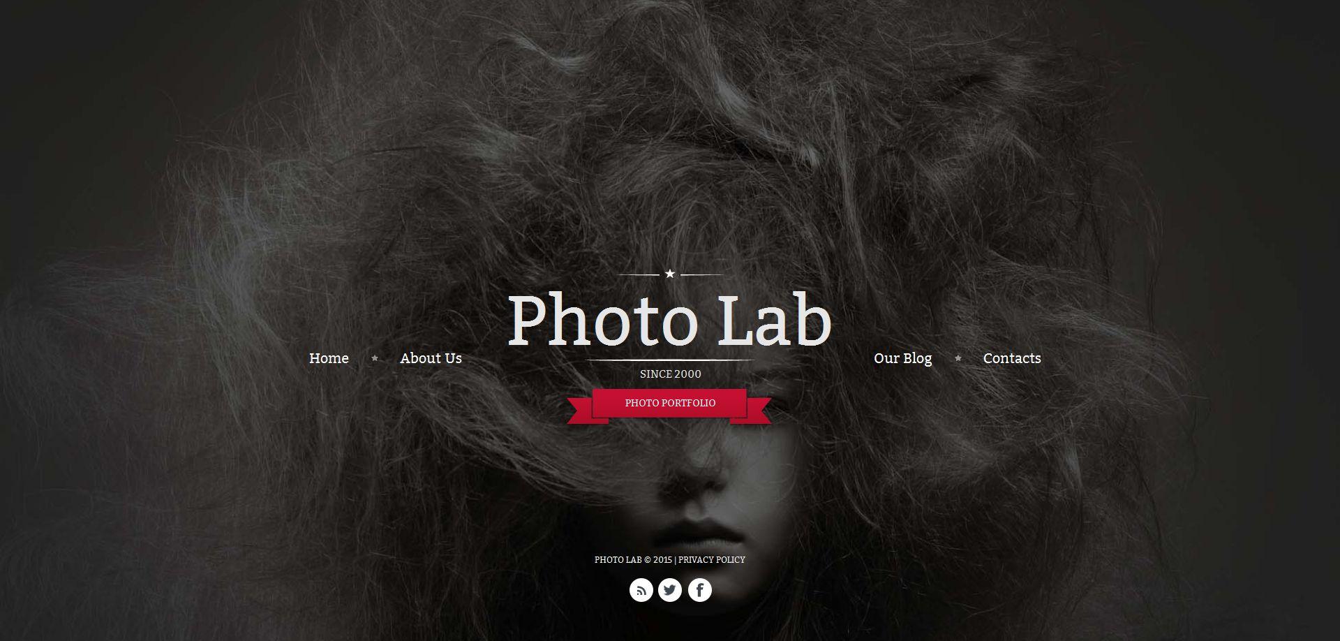 Template de Galeria de Fotos para Sites de Portfólio de Fotografo №54924