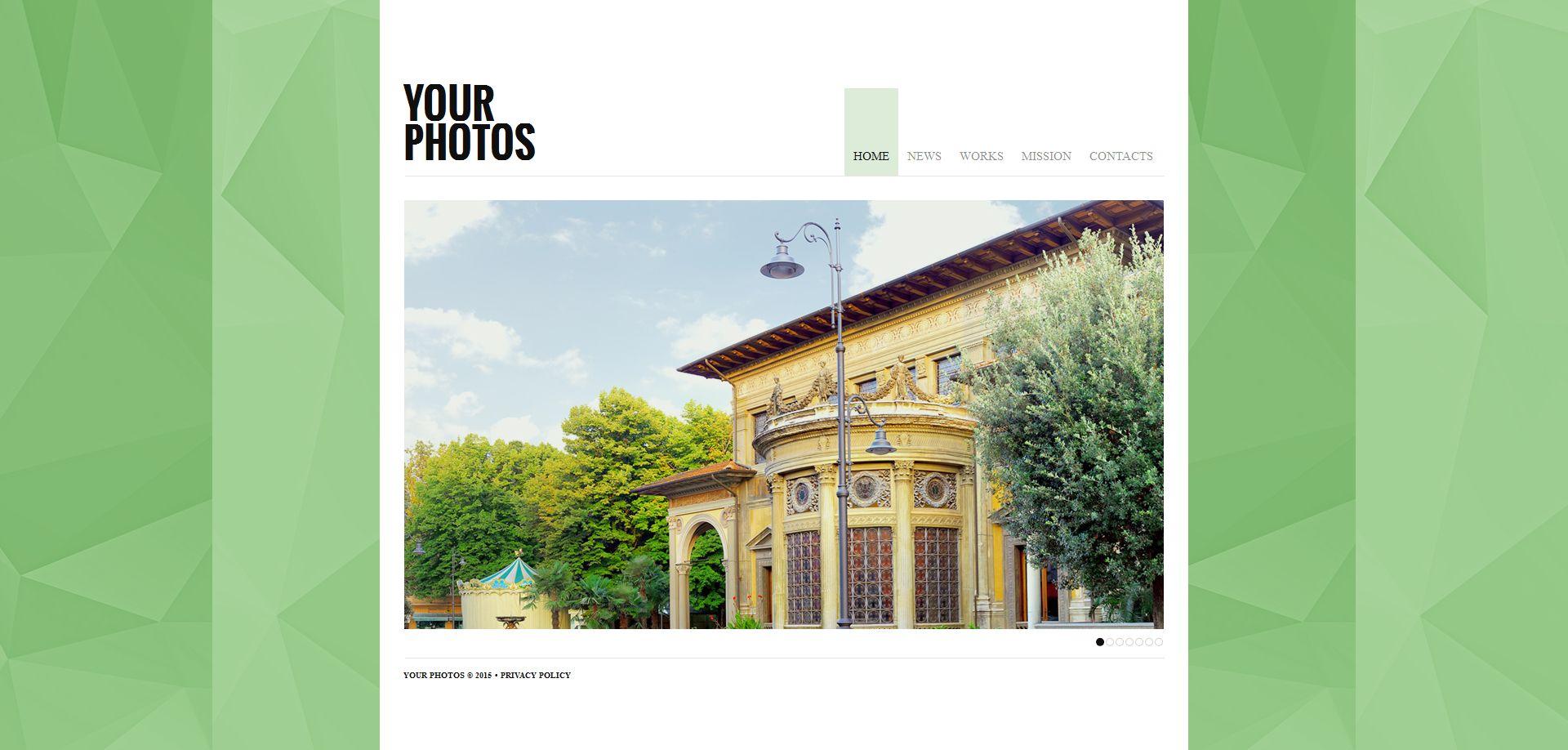 Template de Galeria de Fotos para Sites de Portfólio de Fotografo №54926