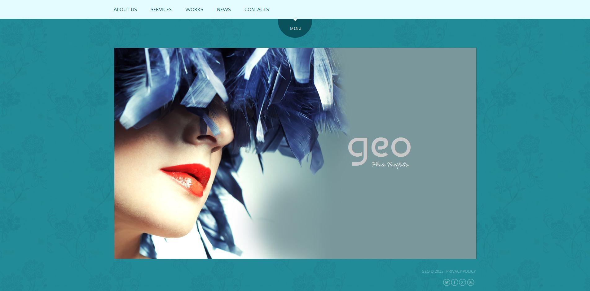 Template de Galeria de Fotos para Sites de Portfólio de Fotografo №54927