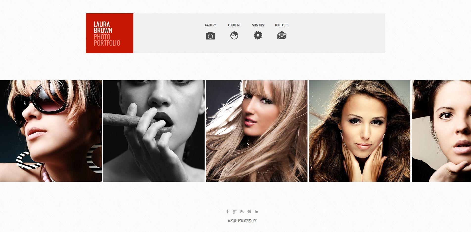 Template de Galeria de Fotos para Sites de Portfólio de Fotografo №54928