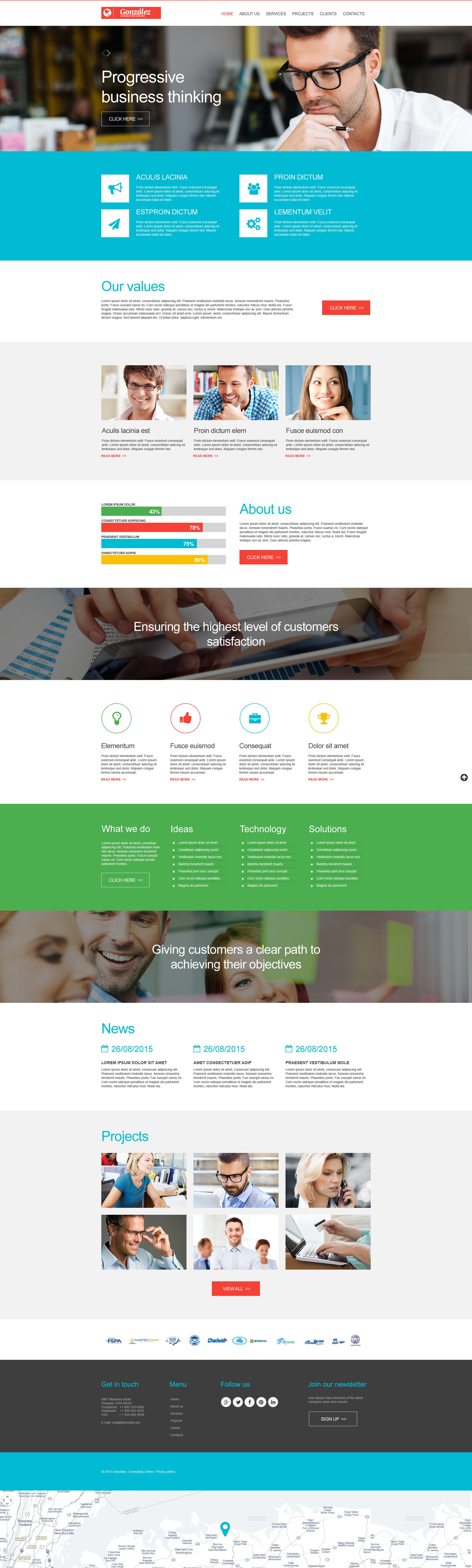Template Muse para Sites de Consultoria №54943