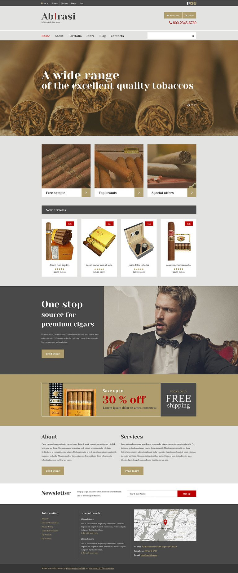 Tobacco Responsive WooCommerce Theme New Screenshots BIG