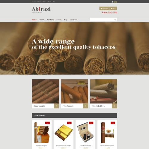 Abrasi - WooCommerce Template based on Bootstrap