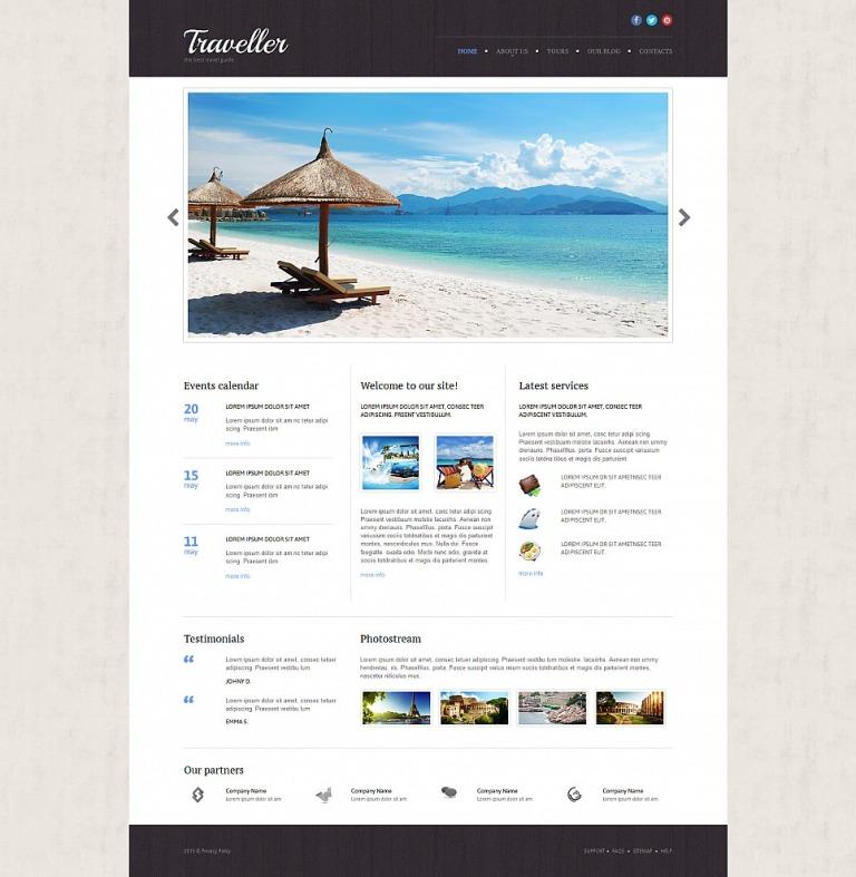 Travel Agency Responsive Moto CMS 3 Template New Screenshots BIG