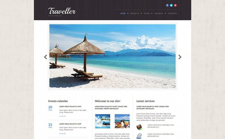Travel Agency Responsive Moto CMS 3 Template