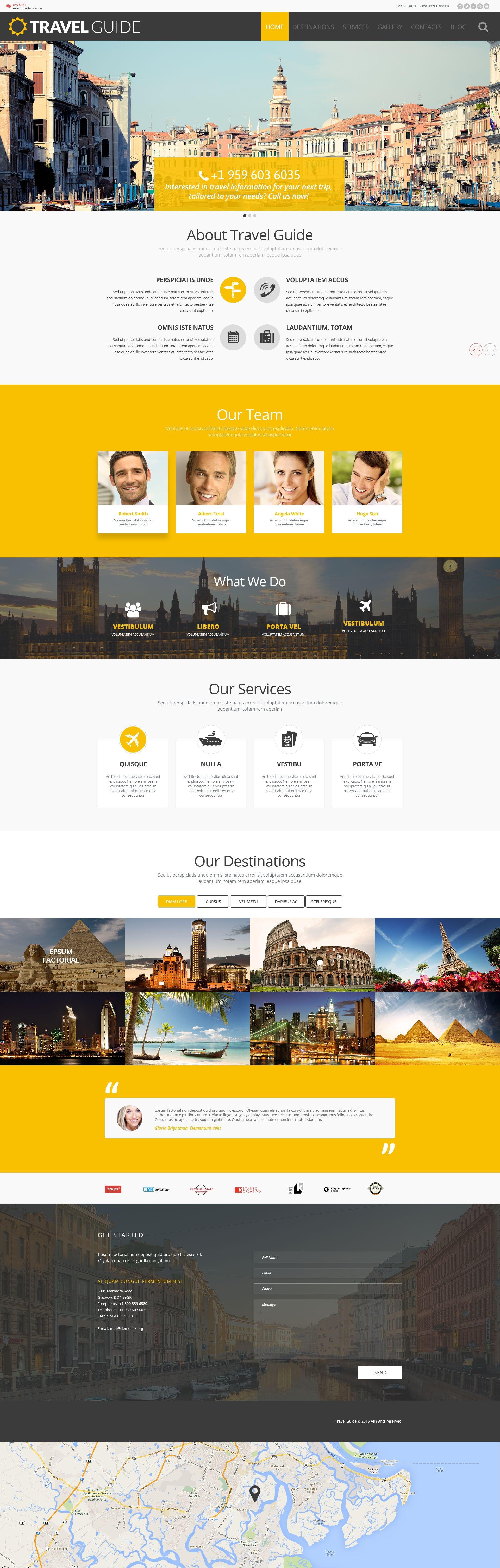 """Travel Guide"" - адаптивний WordPress шаблон №54988"