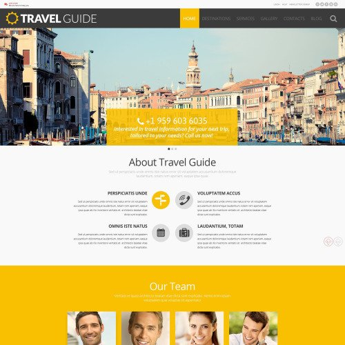 Travel Guide - WordPress Template based on Bootstrap