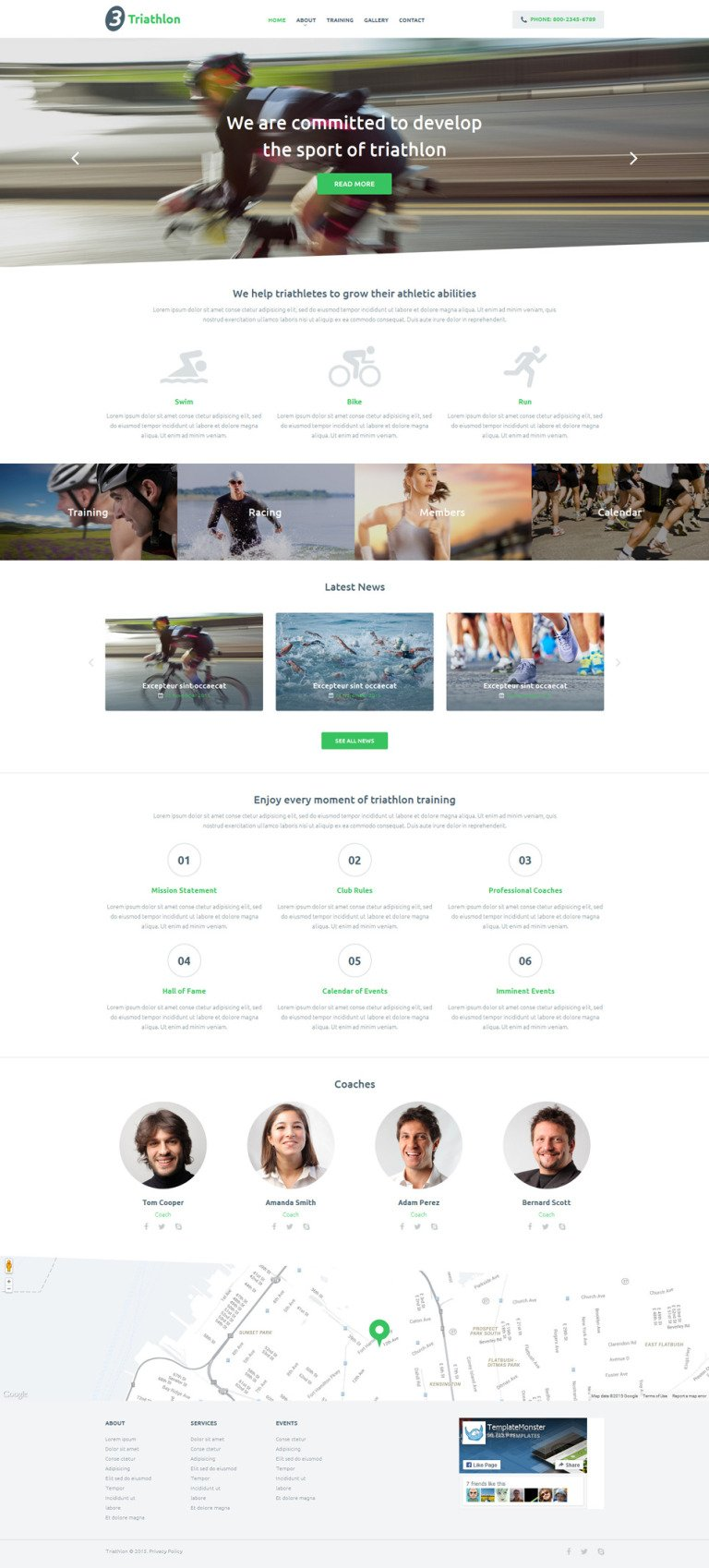 Triathlon Club Website Template New Screenshots BIG