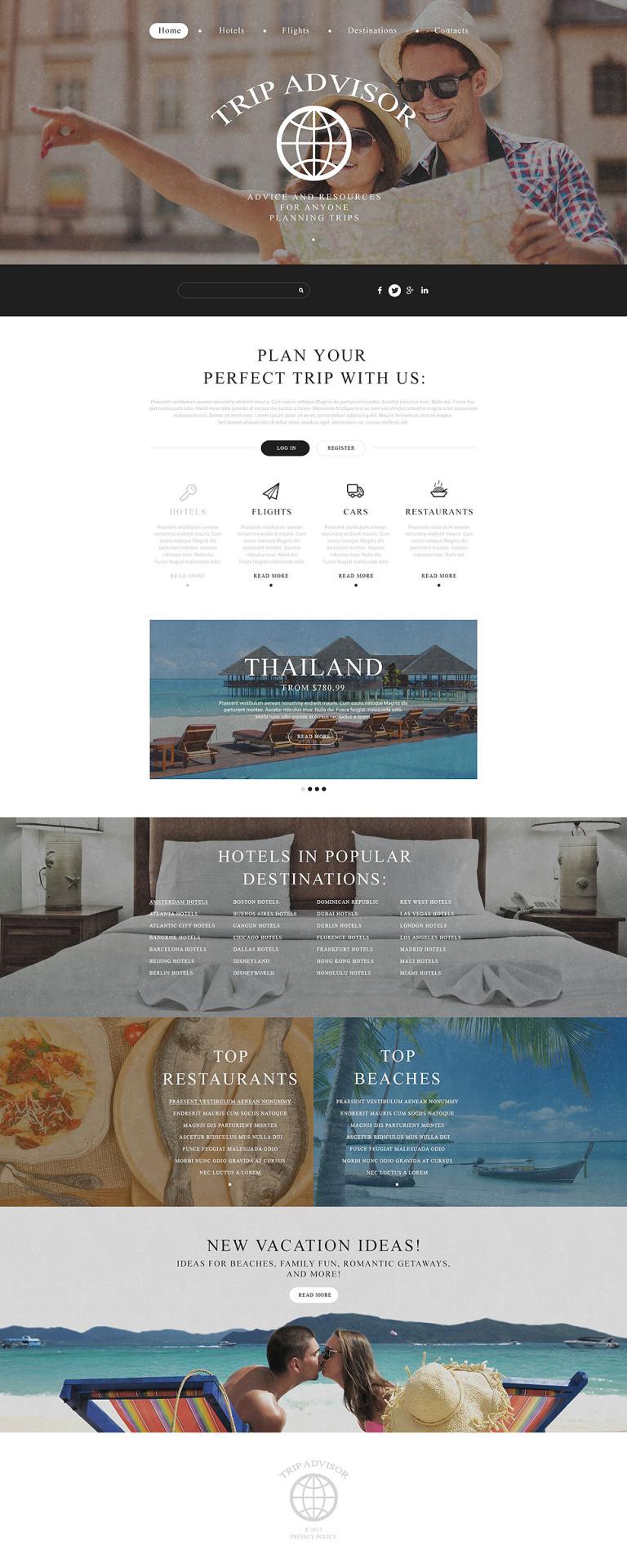 Trip Advisor Website Template New Screenshots BIG