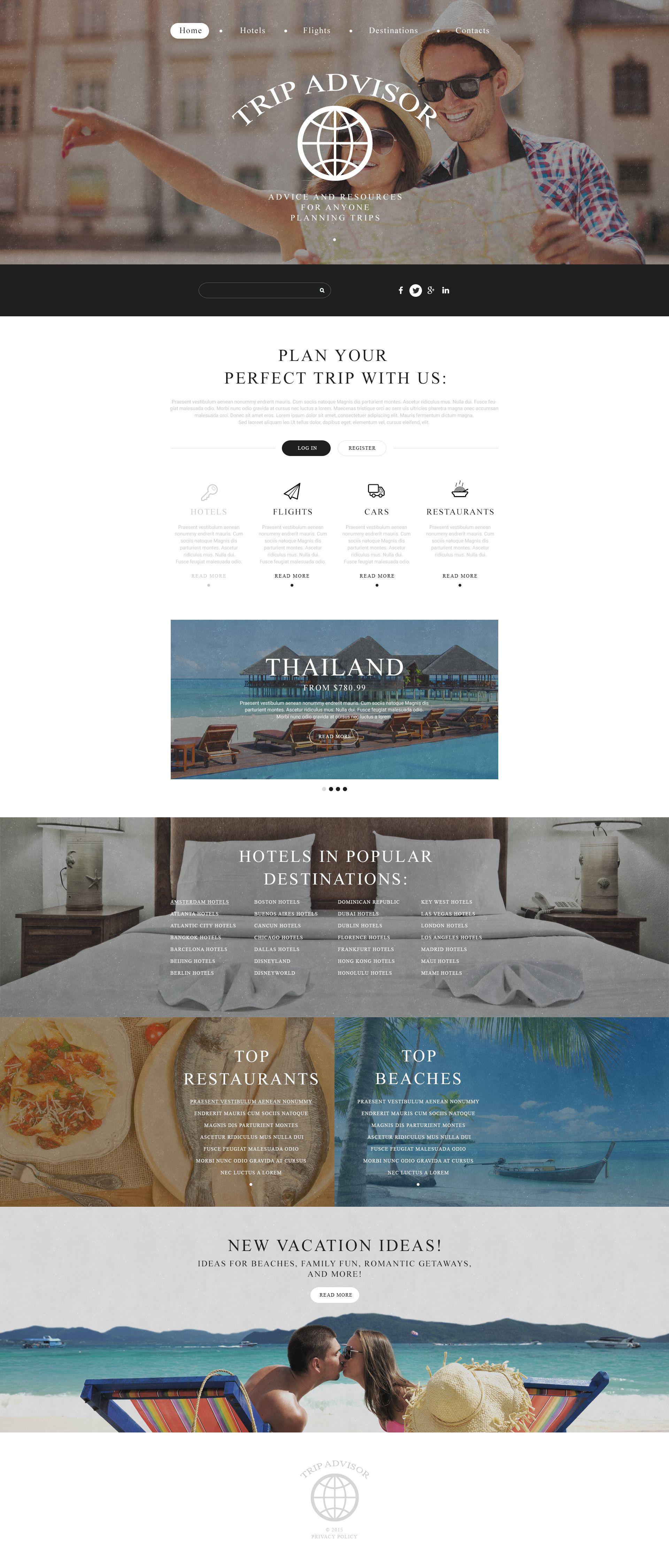 Trip Advisor Website Template