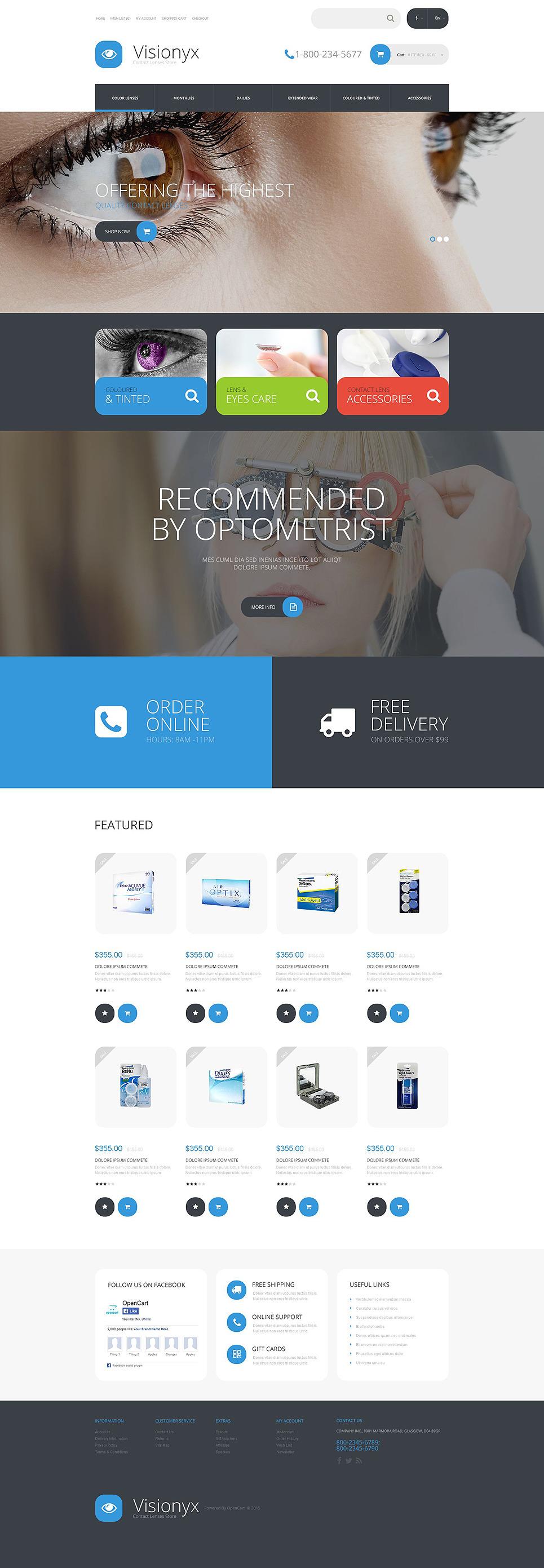 Visionyx OpenCart Template New Screenshots BIG