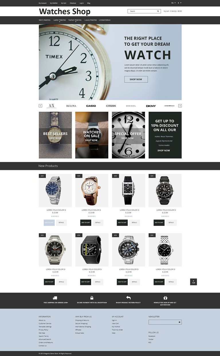 Watches Shop Magento Theme New Screenshots BIG