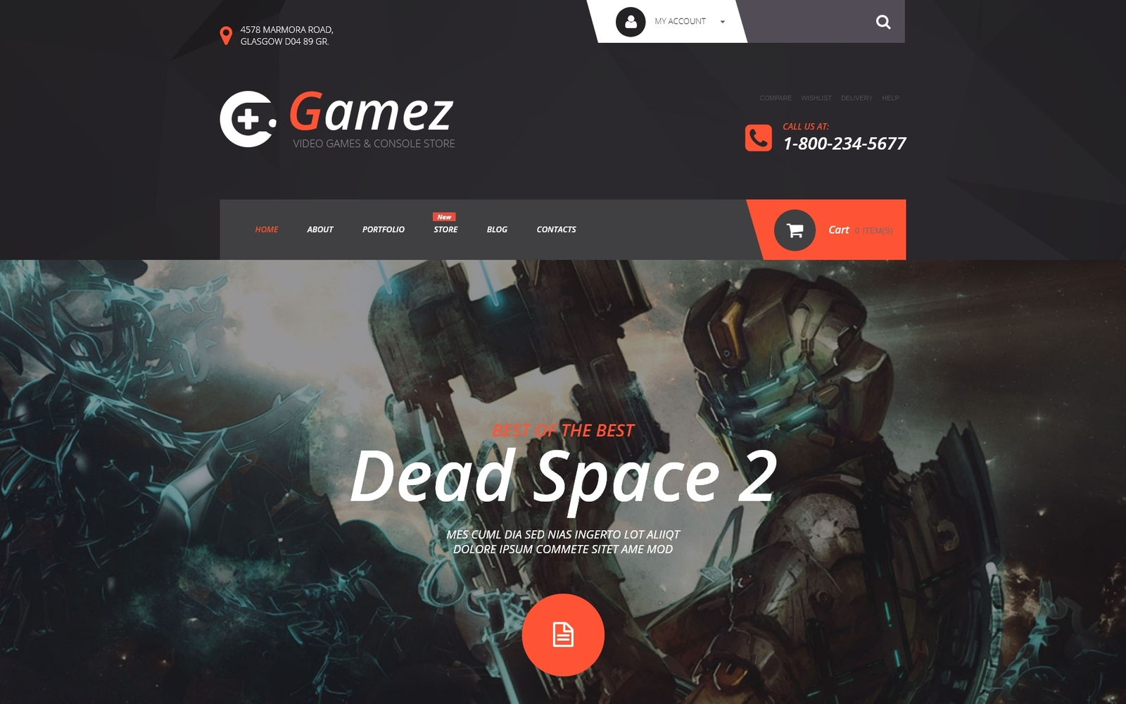 "WooCommerce Theme namens ""Gamez"" #54977"