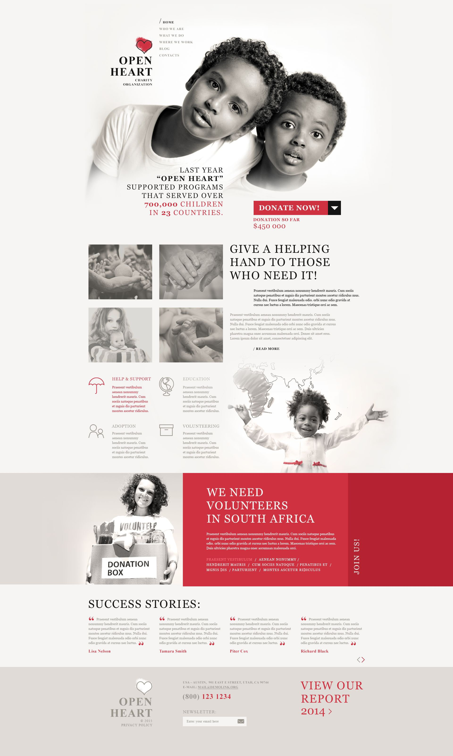 World of Charity WordPress Theme