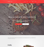 Cafe & Restaurant Website  Template 55001