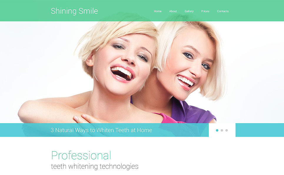 Responsive Website template over Tandarts  New Screenshots BIG