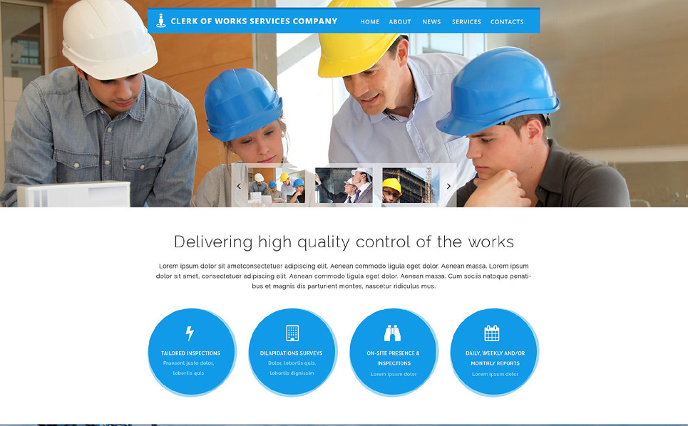 Responsywny szablon strony www #55003 na temat: architektura New Screenshots BIG