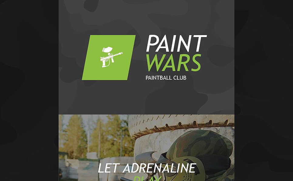 Responsive Paintball  Haber Bülteni Şablon New Screenshots BIG