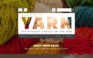 Yarn Online Store OpenCart Template
