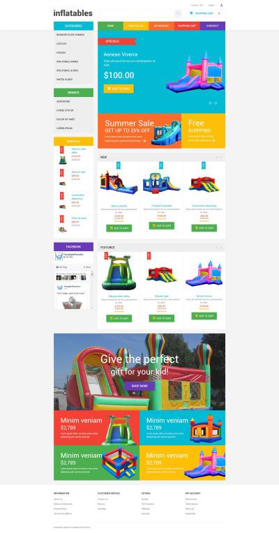 Babybutik Responsivt OpenCart-mall