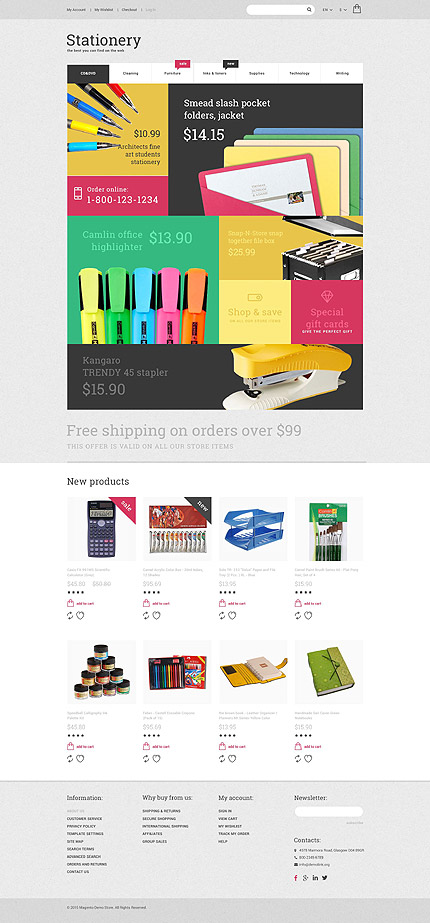 Magento Theme/Template 55015 Main Page Screenshot