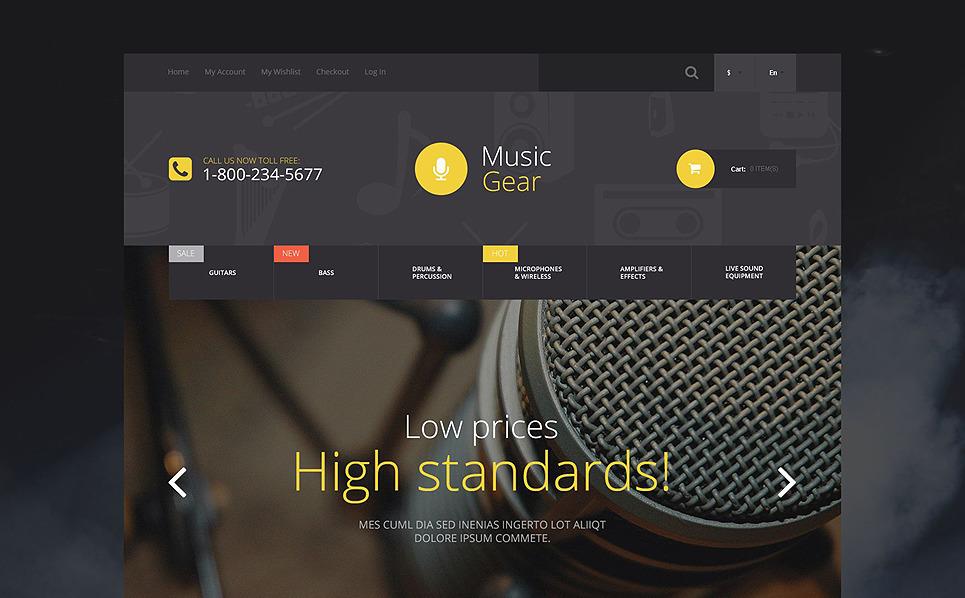 Reszponzív Autó hangtechnika  Magento sablon New Screenshots BIG