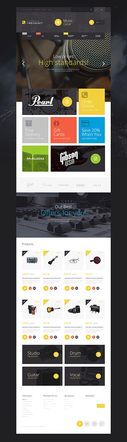 Magento Theme/Template 55016 Main Page Screenshot
