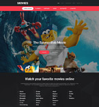 Entertainment Website  Template 55018