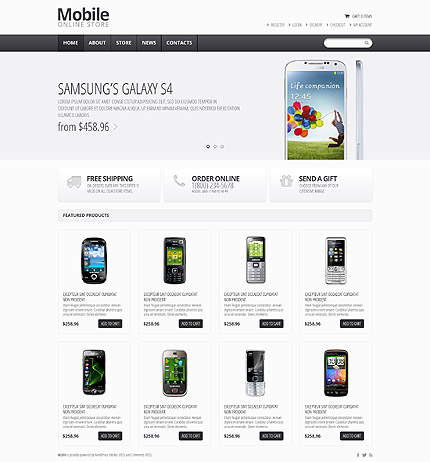 osCommerce Template 55037 Main Page Screenshot