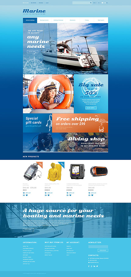 Magento Theme/Template 55038 Main Page Screenshot