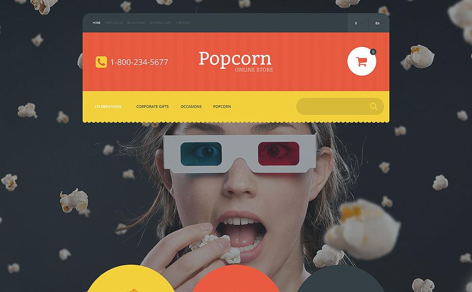 Template OpenCart Responsive #55039 per Un Sito di Negozio di Alimentari New Screenshots BIG