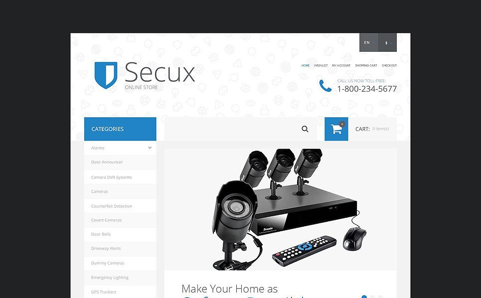 Responzivní OpenCart šablona na téma Bezpečnost New Screenshots BIG